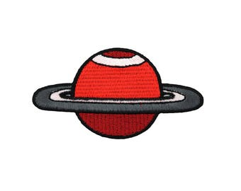 Saturn Iron On Applique, Saturn Iron on Patch, Space Patch, Planet Applique, Saturn Applique, Kids Patch, Embroidered Patch
