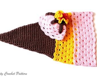 Crochet Cocoon Pattern, Crochet Cocoon Ice Cream, Photo Prop Baby, Crochet Photo Prop Patterns, Photo Prop Newborn, Baby Hat and Cocoon Set