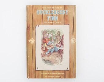 The Adventures of Huckleberry Finn by Mark Twain, Vintage Book, 1958