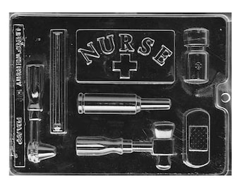 Nurses Kit Chocolate Molds - First Responders - Soap Baking Candy Making Party Supplies