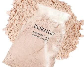 Mineral Makeup Foundation (30 Gram Refill) - Organic Silk Mineral Foundation - Fills (2) 30 Gram Jars