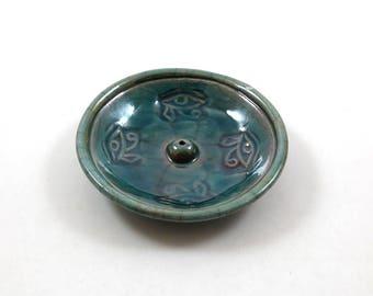 RAKU ägyptische Auge des Horus Weihrauch-Brenner handgemachte Keramik-Keramik