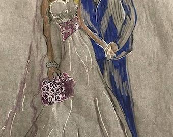 Custom wedding gown sketch one of a kind !!!!!!!!!!!!!!!!!!!!!!!!!!!!!!!