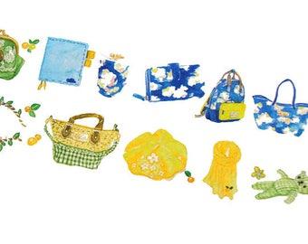 Wide washi tape 25mm, bags washi tape, purse washi tape, camera washi tape, masking tape, scrapbooking, planner supply, packaging supply