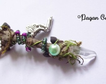 Tiny fairy wand- fae- goddess-wicca-forest-faerie-woodland-magical -pagan-witch-nature-mother goddess