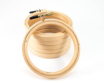"3 inch Embroidery Hoop | Superior Quality Wood Embroidery Hoop - 3"" Diameter (7.6 cm)"