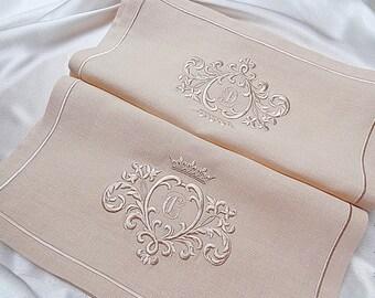 Machine Embroidery Design Gold Monogram Blank - 3D - 2 sizes