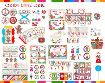 Candy Land birthday,  Candy Land Party, Candy  shoppe birthday party printable package