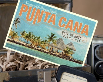 Vintage Postcard Save the Date (Punta Cana) - Design Fee