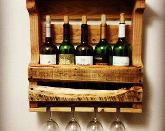 5 Bottle Reclaimed Wood Wine Rack