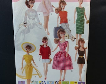Vogue Craft Fashion Doll Sewing Pattern 9834 639 Vintage Style Clothes 11.5""