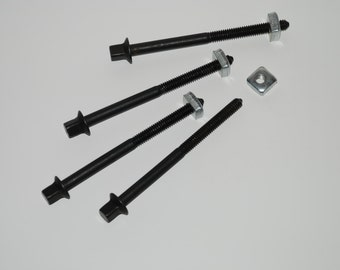 """New Replacement Bed Bolt & Nut for Rope (Peg) Bed 6"""" (SET OF 4)"""