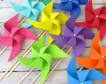 Photo Props Kids Toys Rainbow Party Favors Pinwheels Plush Foam Soft Pinwheels Birthday Decorations Childrens Toy Photo Background Promo
