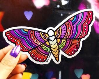 Butterfly Sticker, Moth Sticker, Laptop Stickers, Hippie Sticker, Car Stickers, Decal, Car Decal Hippie, Bohemian Skateboard Stickers, Boho