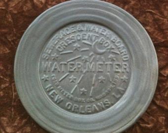 New Orleans Water Meter slate handmade Pottery Salad Plate