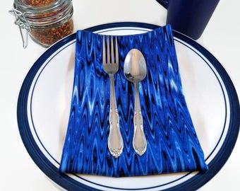 Cloth Dinner Napkins- Set of 4- 100% Cotton- Eco-Friendly - High Frequency