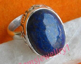 Lapis Lazuli ring, 925 Sterling Silver Ring,Lapis Stone ring, Lapis Stone Ring, Size US 5 6 7 8 9 10 11 12 13 14 -0115100295