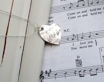 Heart - Fine Silver - Music Lover's Fine Silver Heart