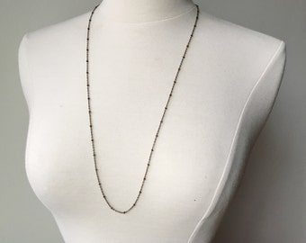 Simple layering necklace // long chain necklace // dainty necklace // dainty necklace chain // simple necklace // vintage inspired jewelry
