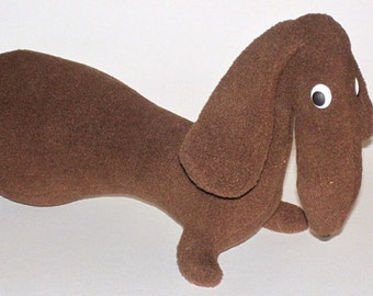 dog sewing pattern, dog Pattern, dog soft toy pattern, dachshund pattern, Doll sewing pattern, sewing patterns