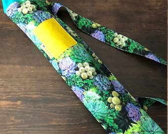 Yoga Mat Bag - Succulents