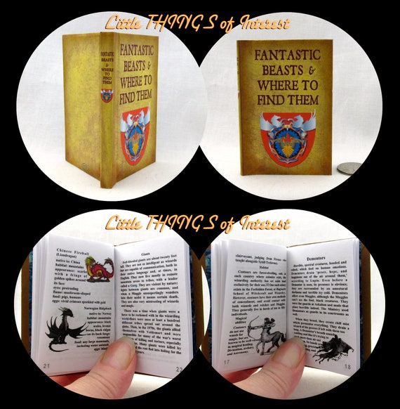 FANTASTIC BEASTS And Where To Find Them 1:3 Scale Readable Book American Girl 18 in. Doll Illustrated Popular Boy Wizard Witch Potter Magic