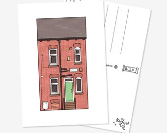 Red Brick House - Postcard