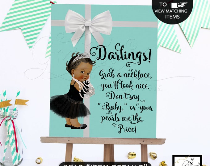 Baby and Co Games, Don't Say Baby, Baby Necklace Game Sign - Grab a necklace don't say, BABY Shower game sign. 8x10 Digital Printable File.