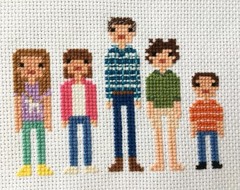 The Middle TV Show Cast Cross Stitch - Customize your own title!