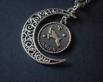Moon Astrology Aries necklace