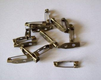 Brooch brass pins 15pcs