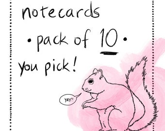 Notecards - Multipack of 10 - you pick!