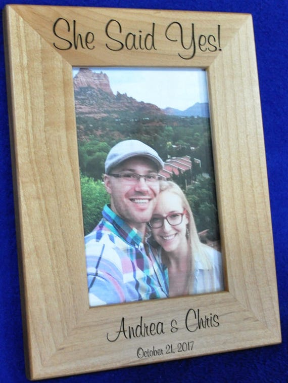 She Said Yes ~ Engagement Frame ~ Wedding Proposal Frame ~ Gift For ...