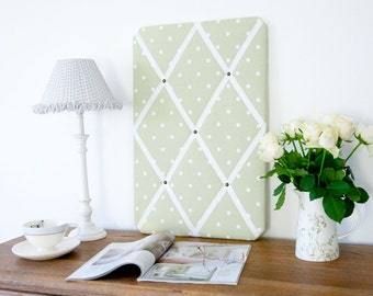 Sage & White Spots Pinboard