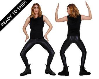 Printed Leggings, Snake Print, Meggings, Mens Leggings, Post Apocalyptic, Burning Man Men, Festival Clothes Men, EDC, by LENA QUIST