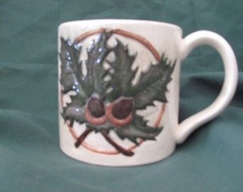 Leaf and Acorn Ceramic Mug