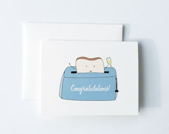 Congratulations Card, Toast to you card, Toast Card, Congrats Card, Toast Toasting Card
