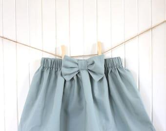 Blue Baby Skirt/ Baby Skirt/ Robin Egg Blue/ Teal/ High waisted/ Bow/ Ruffle/ Dress/ Newborn/ Toddler/ Girls Skirt/ Seafoam Blue/ Spring