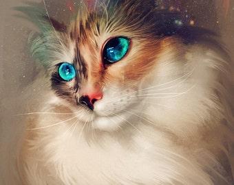 Custom Digital Pet Portrait, Digital File