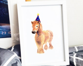 Party with Baby Pony! Poster Print