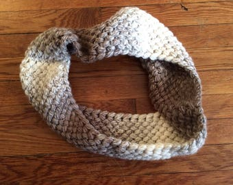 Crochet Coffee Bean Infinity Scarf