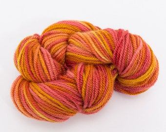 Lambswool Yarn by Wilbur -  Hand Dyed Worsted Weight 3 Ply Border Leicester Wool