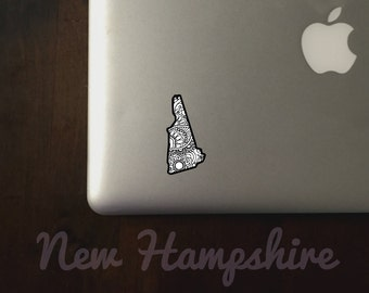 New Hampshire State Sticker