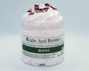 Whipped Soap Sugar Scrub - ROSE