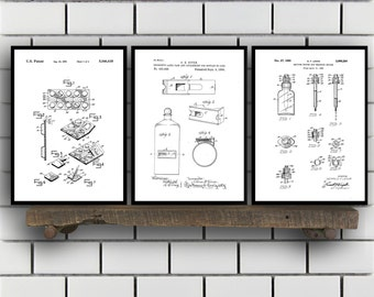 Drugstore Patent Prints Set of THREE, Drugstore Invention Patents, Drugstore Poster, Drugstore Inventions, Pharmacist Decor, Pharmacy