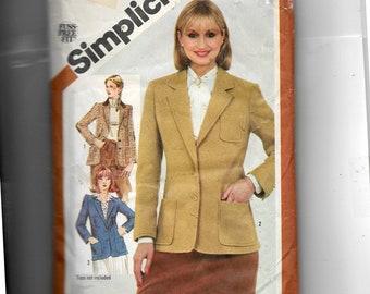 Simplicity  Misses' Lined Blazer Pattern 5202