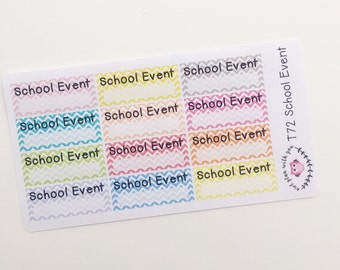 T72 || 12 Chevron School Event Stickers