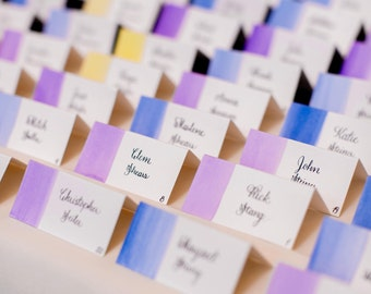 Watercolor Place Card