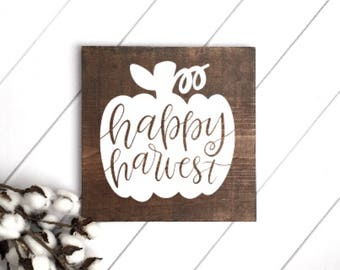 Happy Harvest Sign // Fall Sign // Happy Fall Sign // Its Fall Yall // Wood Sign // Farmhouse Sign // Rustic Sign // Farmhouse Decor // Fall