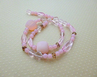 Mix of Rose - 0424 CBMIX pressed glass beads